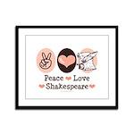Peace Love Shakespeare Framed Panel Print