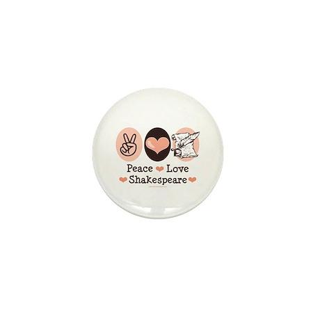 Peace Love Shakespeare Mini Button