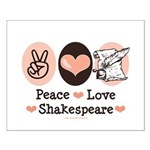 Peace Love Shakespeare Small Poster