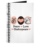 Peace Love Shakespeare Journal
