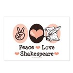 Peace Love Shakespeare Postcards (Package of 8)
