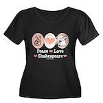 Peace Love Shakespeare Women's Plus Size Scoop Nec