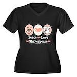Peace Love Shakespeare Women's Plus Size V-Neck Da