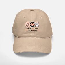 Peace Love Shakespeare Baseball Baseball Cap