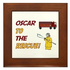 Oscar to the Rescue!  Framed Tile