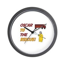 Oscar to the Rescue!  Wall Clock