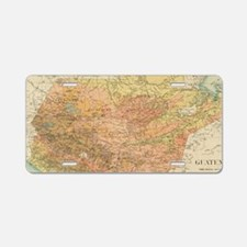 Vintage Map of Guatemala (1 Aluminum License Plate
