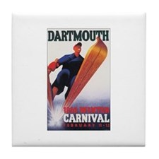Dartmouth Poster Tile Coaster