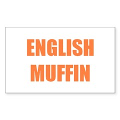 English Muffin Rectangle Decal