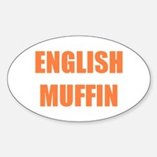 English Muffin Oval Decal