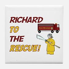 Richard to the Rescue!  Tile Coaster
