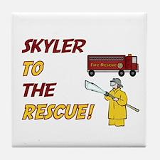 Skyler to the Rescue!  Tile Coaster