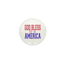 God Bless America Mini Button (10 pack)