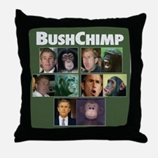 Bush Chimp Throw Pillow