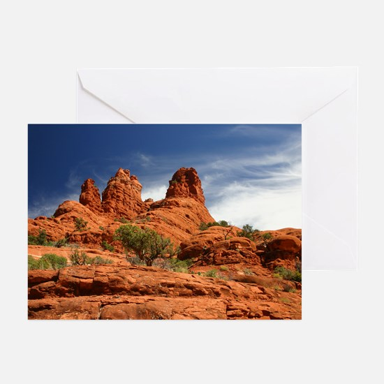 Vortex Side of Bell Rock Greeting Cards (Package o