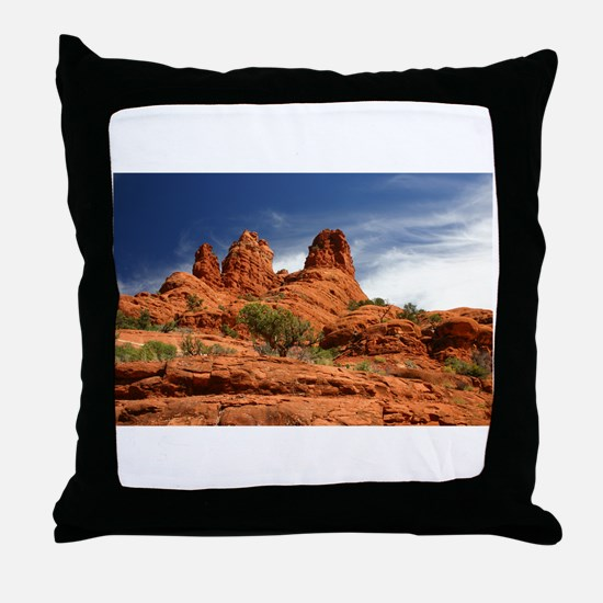 Vortex Side of Bell Rock Throw Pillow