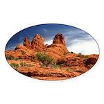 Vortex Side of Bell Rock Oval Sticker