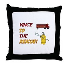 Vince to the Rescue!  Throw Pillow
