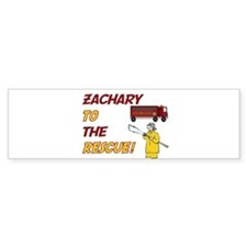 Zachary to the Rescue! Bumper Bumper Sticker