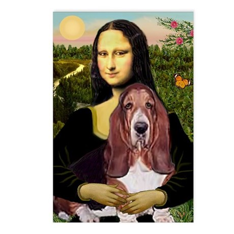 Mona's Basset Postcards (Package of 8)