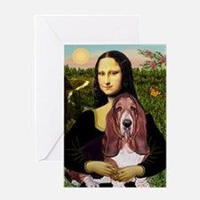 Mona's Basset Greeting Card