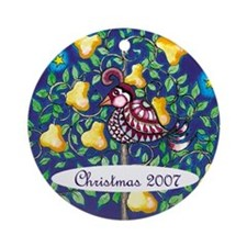 Partridge in a Pear Tree 2007 christmas Ornament