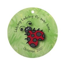 Ladybug Christmas Holiday Ornament