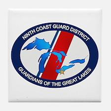 9th District USCG Tile Coaster