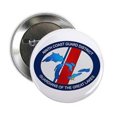 """9th District USCG 2.25"""" Button (100 pack)"""