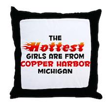 Hot Girls: Copper Harbo, MI Throw Pillow
