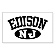 Edison New Jersey Rectangle Decal