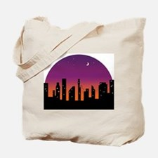 Bassoon Skyline Sunrise/Sunset Tote Bag