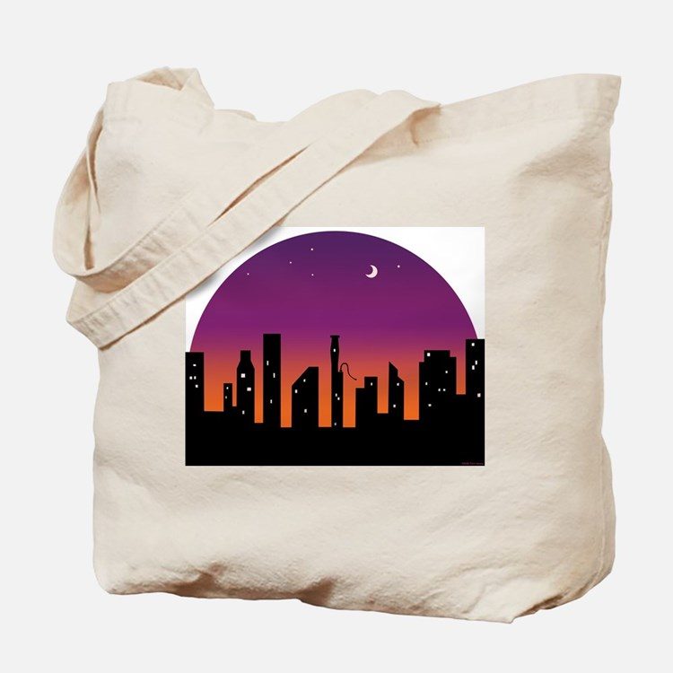 Bassoon Skyline Sunrise/Sunset Tote Bag