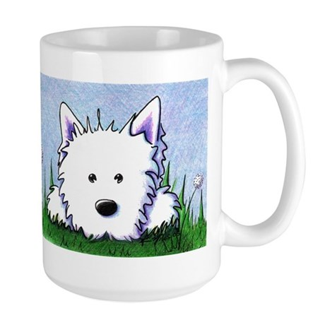 Smiling Spring Westie Large Mug