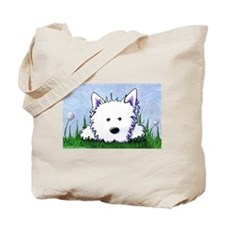 Smiling Spring Westie Tote Bag