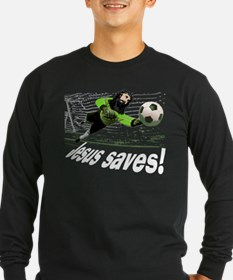 Jesus saves soccer shirt T
