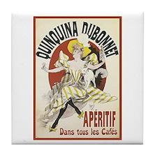 Quinquina Dubonnet Tile Coaster