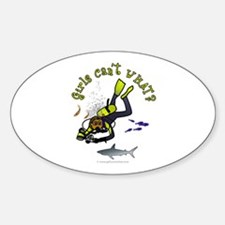 Dark Diver Oval Decal
