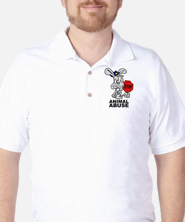 Stop Animal Abuse Golf Shirt