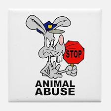 Stop Animal Abuse Tile Coaster