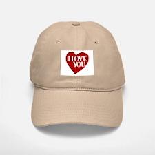 I Love You Valentine's Day Baseball Baseball Cap