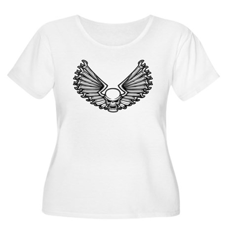Wrench-Feather 1 Women's Plus Size Scoop Neck T-Sh