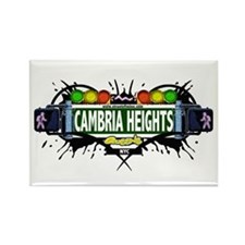 Cambria Heights (White) Rectangle Magnet