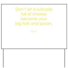 Funny Forks Yard Sign