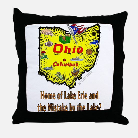 OH-Erie! Throw Pillow