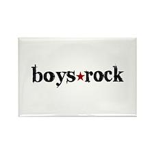 Boys Rock Rectangle Magnet