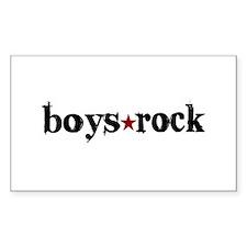 Boys Rock Rectangle Decal