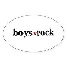 Boys Rock Oval Decal