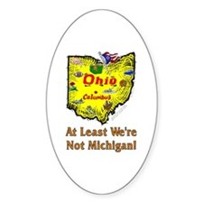 OH-Michigan! Oval Decal