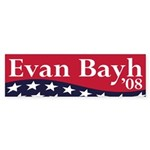 Evan Bayh '08 (presidential bumper sticker)